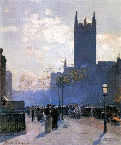 Childe Hassam - Lower Fifth Avenue