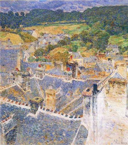 Childe Hassam - Roofs, Pont-Aven