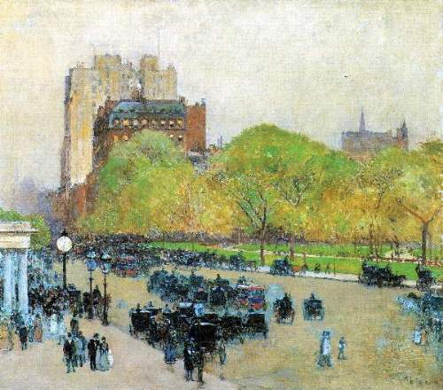 Childe Hassam - Spring morning in the heart of the city