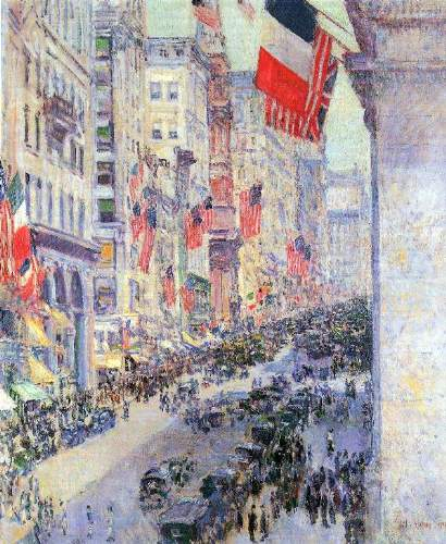 Childe Hassam - The avenue along 34th Street, May 1917