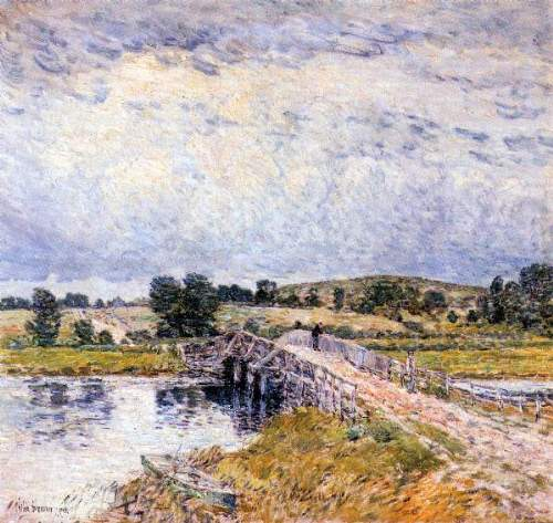Childe Hassam - The bridge from Old Lyme