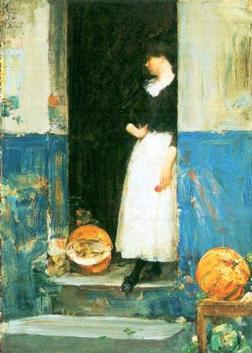 Childe Hassam - The fruit trader