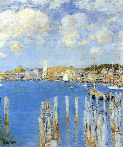 Childe Hassam - The inland port of Gloucester