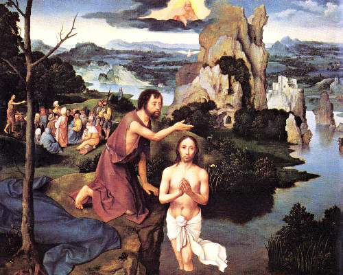 Baptism of Christ by Patinier
