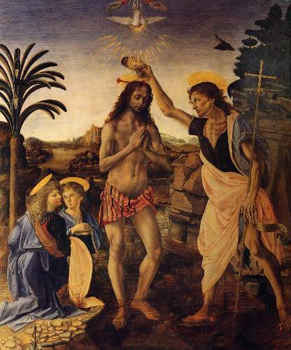 Baptism of Christ by Verrochio