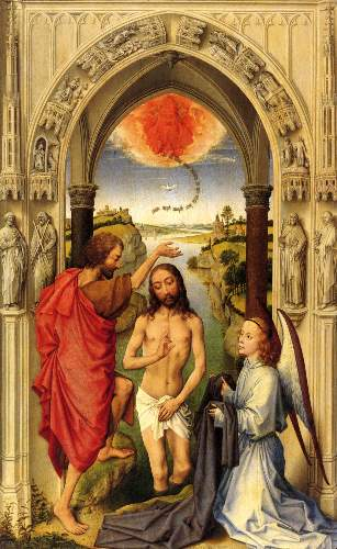 Baptism of Christ by Weyden