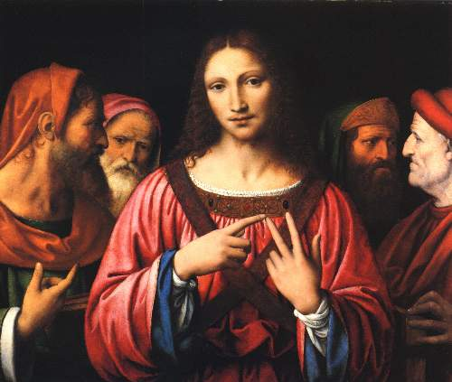 Christ among the doctors by Luini