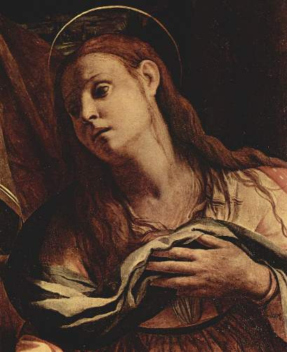 Christ and Maria Magdalena detail by Bronzino