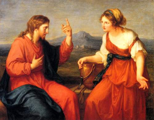 Christ and the Samaritan woman by Kaufmann