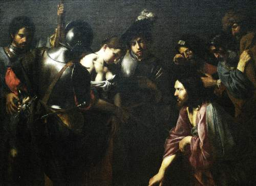 Christ and the adulteress by Boulogne