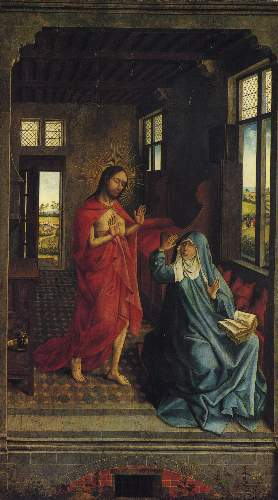 Christ appearing to the virgin by Weyden