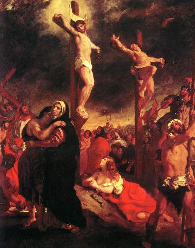 Christ at the Cross by Delacroix