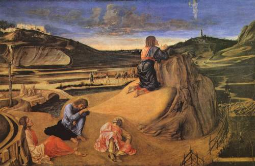 Christ at the mount of Olives by Bellini