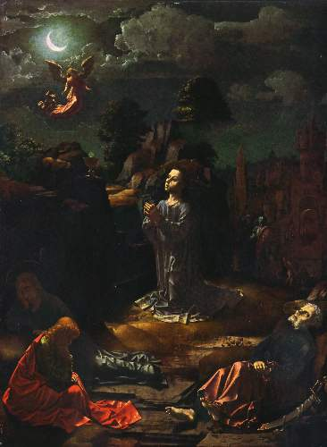 Christ at the mount of Olives by Gossaert