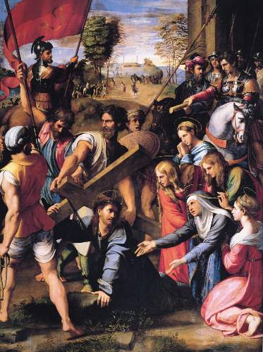 Christ carrying the Cros by Raffael