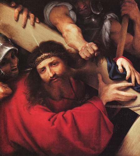 Christ carrying the cross by Lotto