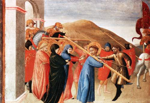 Christ carrying the cross by Sassetta