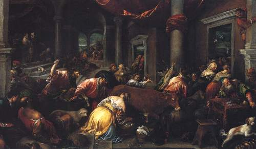 Christ drives the dealers from the temple by Bassano
