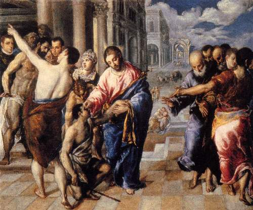 Christ healing the blind by Greco