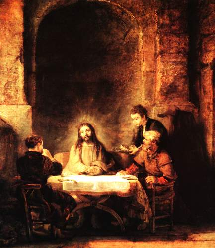 Christ in Emmaus by Rembrandt