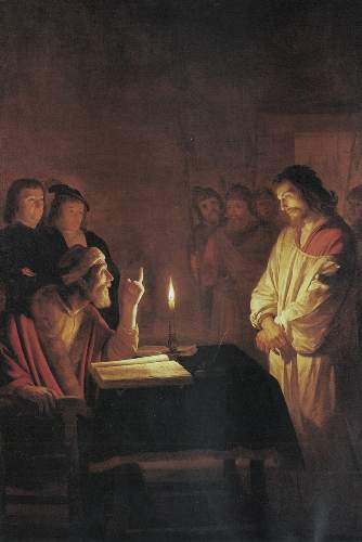 Christ in front of the high priest by Honthorst