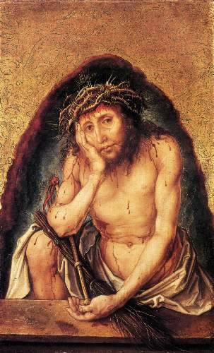 Christ in pain by Duerer