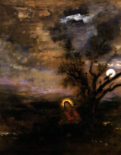 Christ in the garden of Olives by Moreau