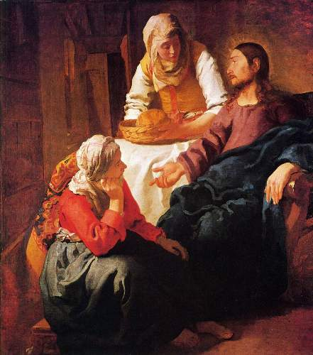 Christ in the house of Mary and Martha by Vermeer