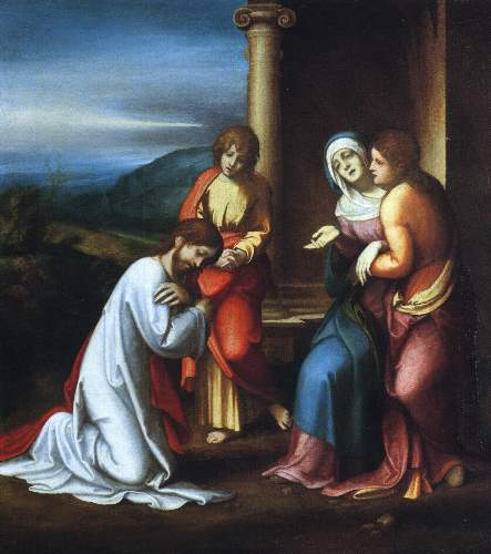 Christ leaving his mother by Corregio
