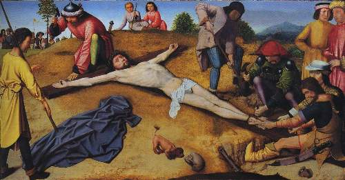Christ nailed to the cross by David