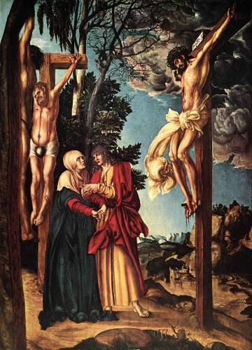 Christ on the cross by Cranach