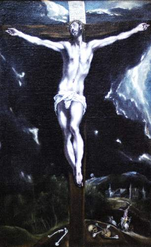 Christ on the cross by Greco