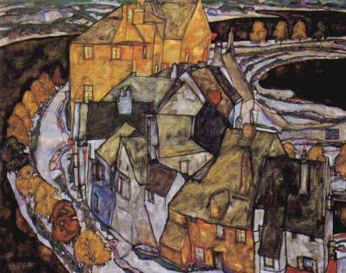 Egon Schiele - The House-Bend, or Island City