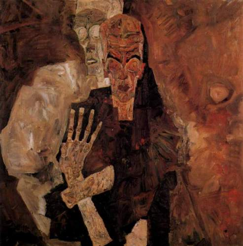 Egon Schiele - Unlicensed or even death, and man