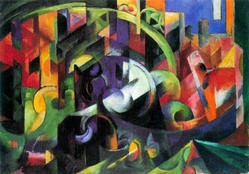 Franz Marc - Abstract with cattle