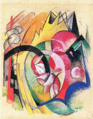 Franz Marc - Colored flowers