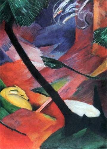 Franz Marc - Deer in the forest II