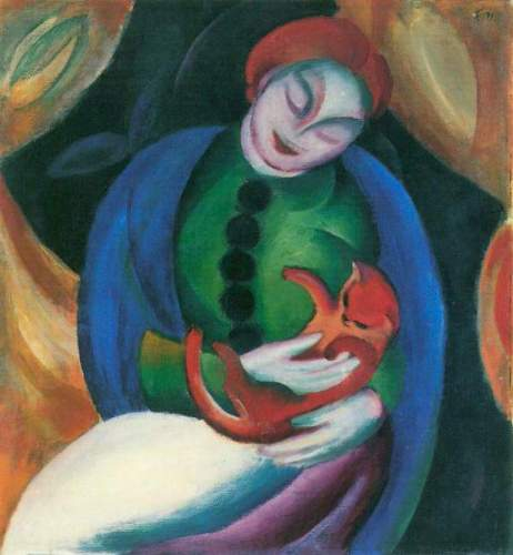 Franz Marc - Girl with a Cat II