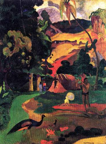 Gauguin - Landscape With Peacocks