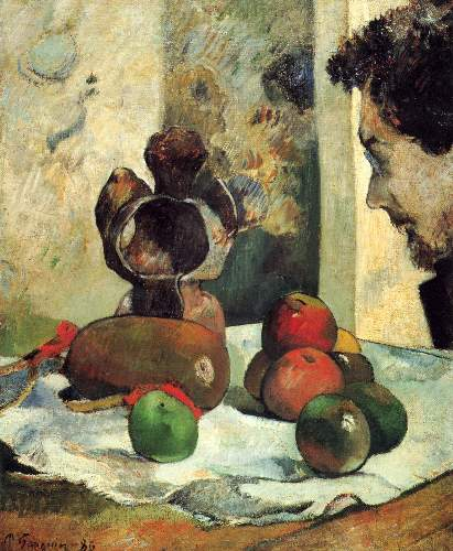 Gauguin - Still Life with Profile of Charles Lavall