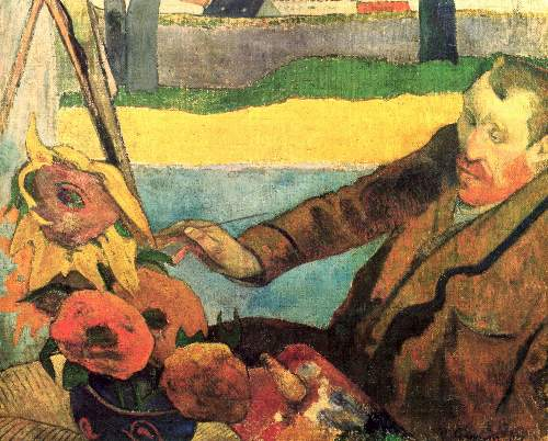 Gauguin - Van Gogh Painting Sunflowers