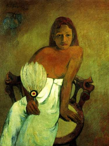 Gauguin - Young Girl with Fan