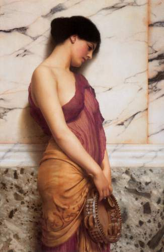 Godward - The tambourine girl