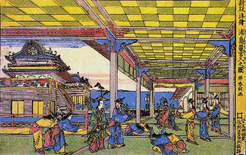 Hokusai - Advent of Urashima at the Dragon palace