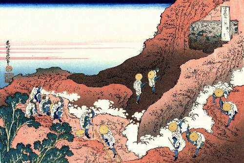 Hokusai - Climbing on Mt. Fuji
