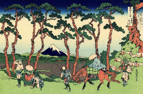 Hokusai - Hodogaya on the Tokaido