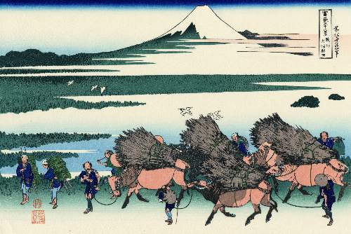 Hokusai - Ono Shindon in the Suraga province
