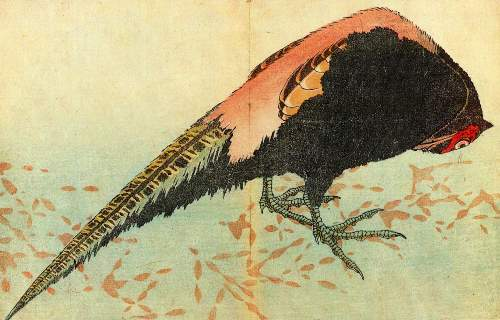 Hokusai - Pheasant on the snow