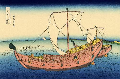 Hokusai - The Kazusa sea route