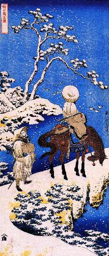 Hokusai - The poet Teba on a horse